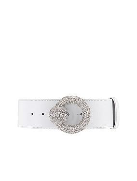 Circle Crystal Buckle Belt