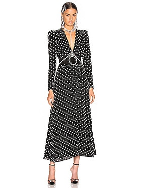Polka Dot Tie Front Midi Dress