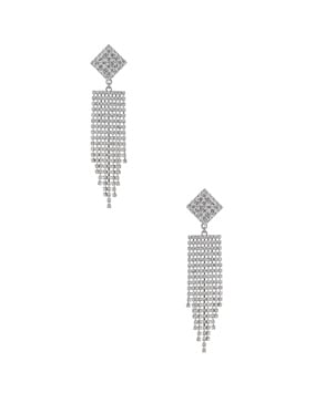 Diamond Crystal Fringe Earrings