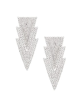 Three Triangle Earrings