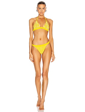 Crystal Embellished Bikini Set