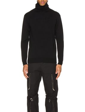 Turtle Neck Emboss Knit