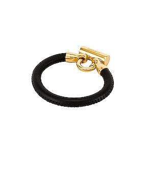 Bike Lock Leather Bracelet