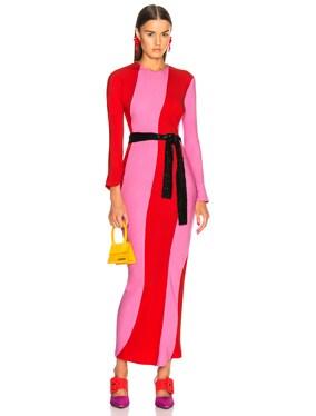 Twisted Stripes Long Dress