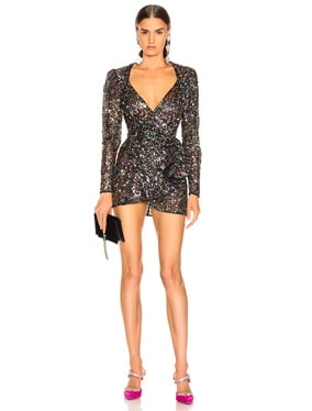 Sequined Mini Pat Dress