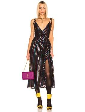 Lurex Striped Slip Dress