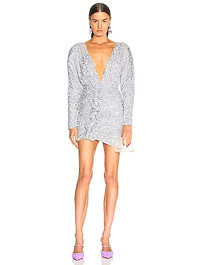 Sequined Drape Dress
