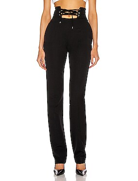 High Waisted String Belt Pant