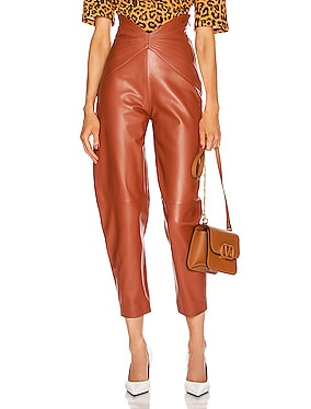 Leather Butterfly Carrot Pant