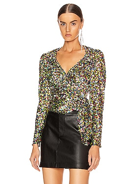Sequin Wrap Top