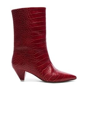 Croc Embossed Sofia Boots