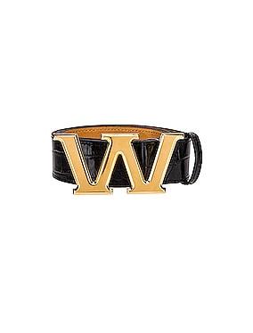Metal Logo Letter Belt