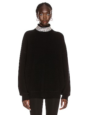 Crystal Neck Turtleneck Sweater