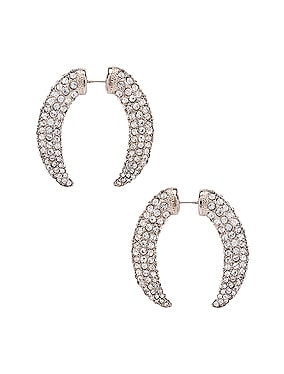 Diamante Claw Faux Gauge Earrings