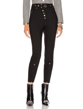 High Waisted Snap Front Legging