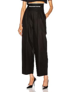 Logo Elastic High Waisted Trouser