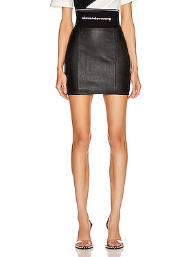 Stretch Leather Skirt