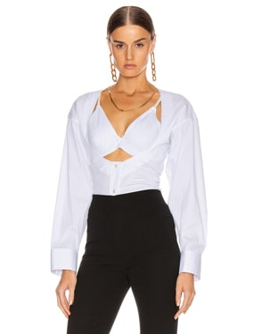 Fitted Poplin Twin Set Top