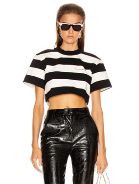 Chynatown Stripped Cropped Tee