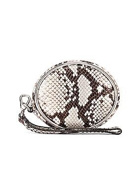 Halo Snakeskin Wristlet