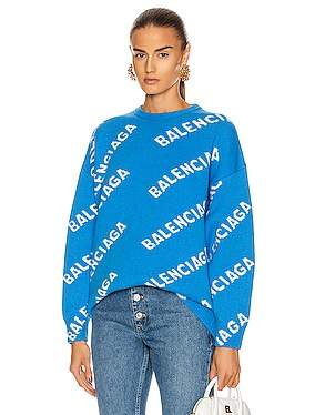 Long Sleeve Crew Neck Logo Sweater