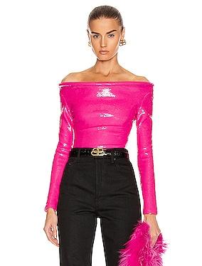 Sequin Ring Bodysuit Top