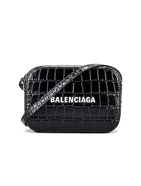 XS Embossed Croc Logo Camera Bag