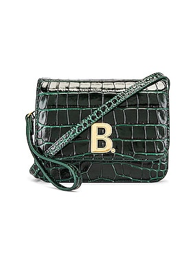 Small Embossed Croc B Bag
