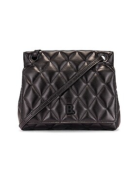 Medium Quilted Leather B Shoulder Bag