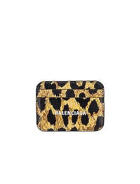 Leopard Cash Card Holder