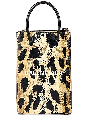 Leopard Shop Phone Holder Bag