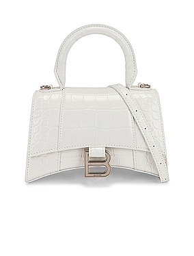 XS Croc Hourglass Top Handle Bag