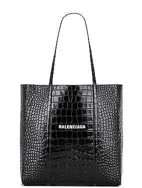 Small Embossed Croc Everyday Tote