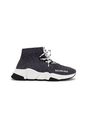 Speed Lace Up Knit Sneakers