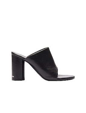 Oval Open Toe Mules