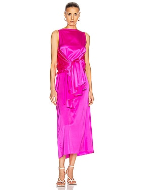 Judy Silk Satin Dress