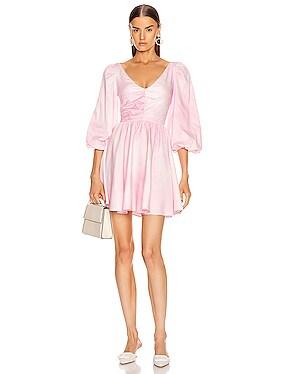 Ruched Empire Waist Mini Dress