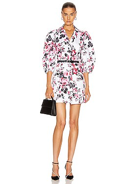 Floral Button Down Mini Dress
