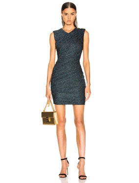 Draped Jersey Lurex Mini Dress