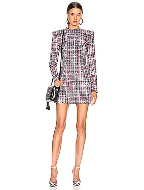 Tweed Button Dress