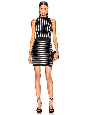 Short Sleeveless Striped Dress