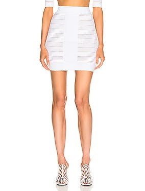 High Waisted Medical Stripe Skirt