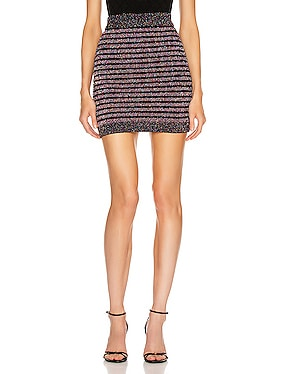 Short Glitter Stripe Skirt