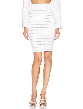 High Waist Logo Stripe Skirt