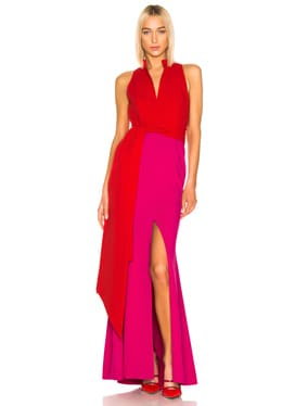 Split Neck Gown