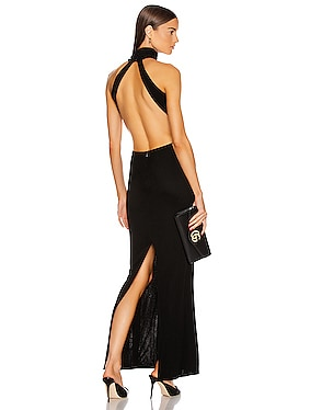 High Neck Backless Gown
