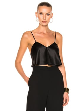 Satin Crop Camisole Top