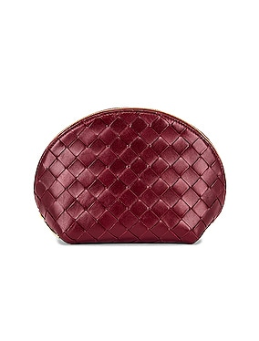 Leather Woven Cosmetic Case