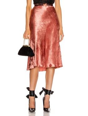 Perwinkle Velvet Midi Skirt