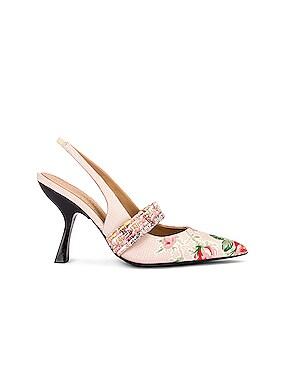 Floral Slingback Heels